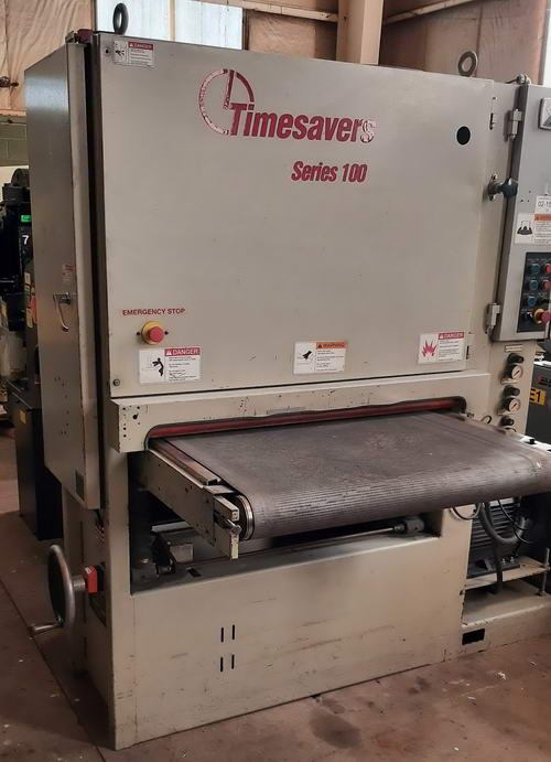 37 TIMESAVERS Belt Sander, 0 to 8 Part Ht, 15 to 45 FPM Conv, 20 HP