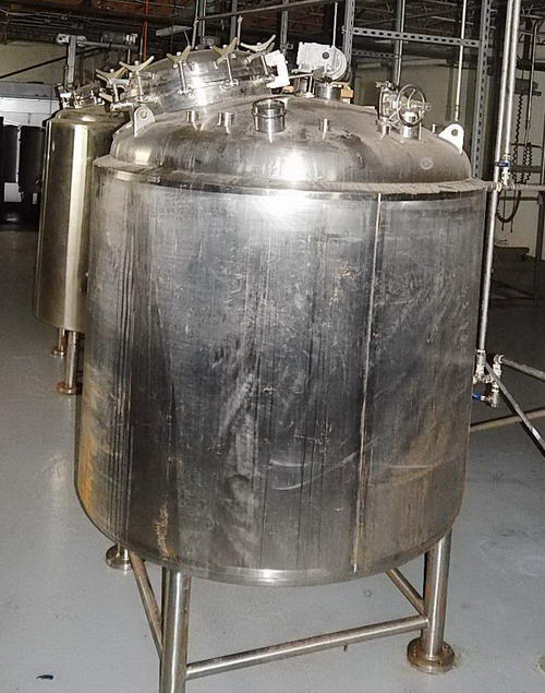 660 Gal, 45 PSI PRECISION STAINLESS Reactor / Process Tank With Cooling Jacket